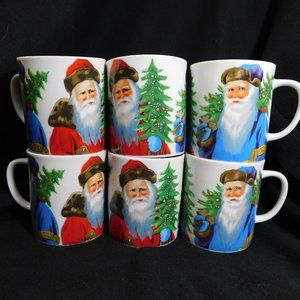 A Company of Friends Father Christmas Vintage Mugs